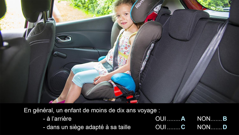 enfants en voiture code de la route